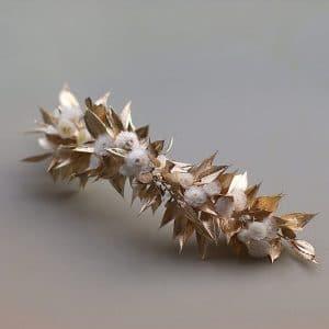 peigne cheveux mariage fleurs preservees