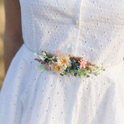 petite ceinture fleurie mariage