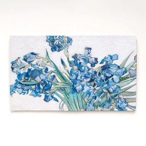 pochette a fleurs mariage champetre imprimé fleurs iris