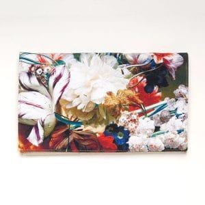 pochette a fleurs mariage champetre imprimé fleurs multicolore