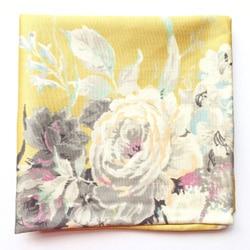 noeud papillon velours pochette costume mariage jaune fleurs