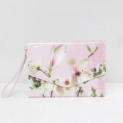 pochette mariage fleur rose