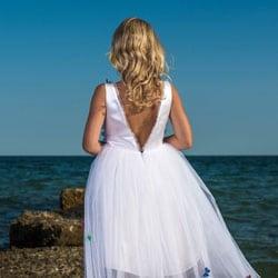 robe de cortege blanche dos nu