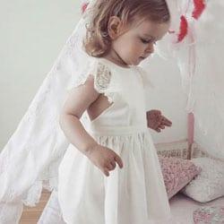 d robe de cortege blanche petite fille