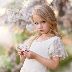 robe de cortege petite fille