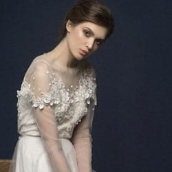 l robe de marie dentelle fleurs