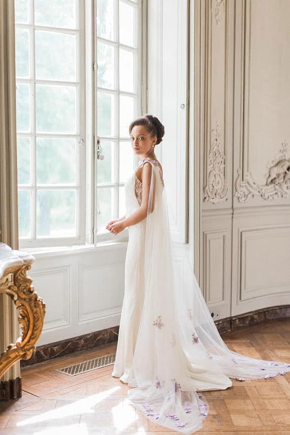 robe de mariee avec cape faith cauvain