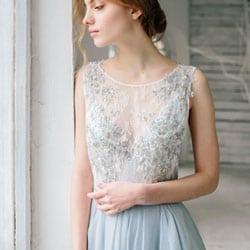 l robe de mariee bleu doux
