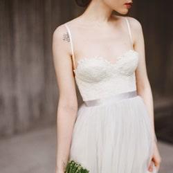 robe de mariee bustier dentelle