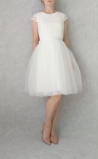 robe de mariee courte 2019 en tulle