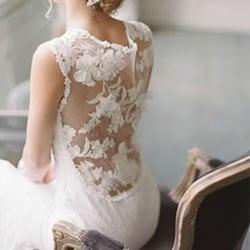h robe de mariee dos nu en dentelle