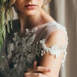 c robe de mariee en perle brodee