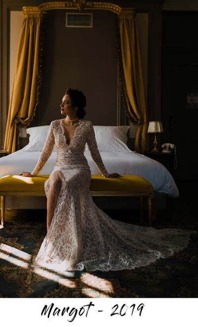 robe de mariee margot toute en dentelle aurelie mey