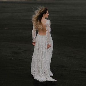 a robe de mariee perles aurelie mey 2019