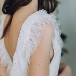robe de mariee perles et tulle