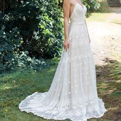 robe de mariee toute brodee