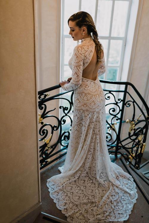 robe de mariee toute en dentelle 2019 aurelie mey