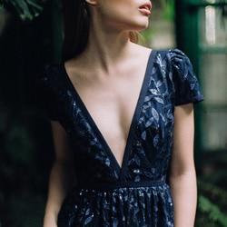 robe marine demoiselle honneur