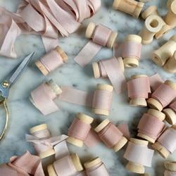 d rubans de soie decor mariage
