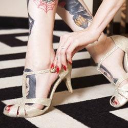 salome paillette chaussure de mariage