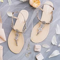sandales de mariage perles