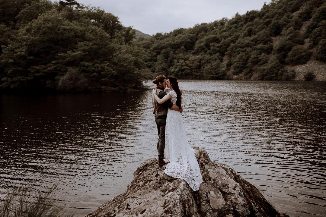 mariage au bord de leau