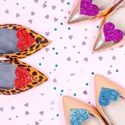stickers chaussures en coeur
