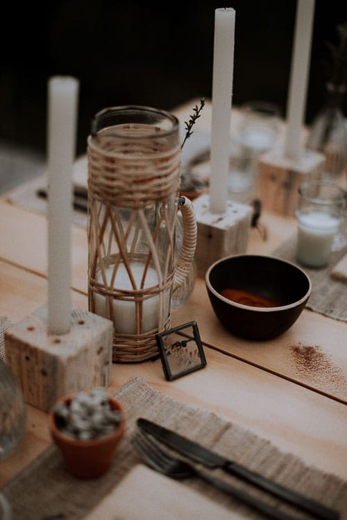 table de mariage rustique chic 2019