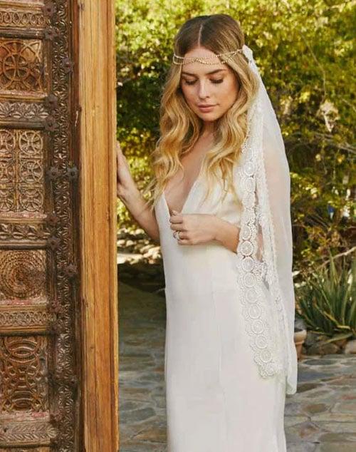 voile de mariage bohemien