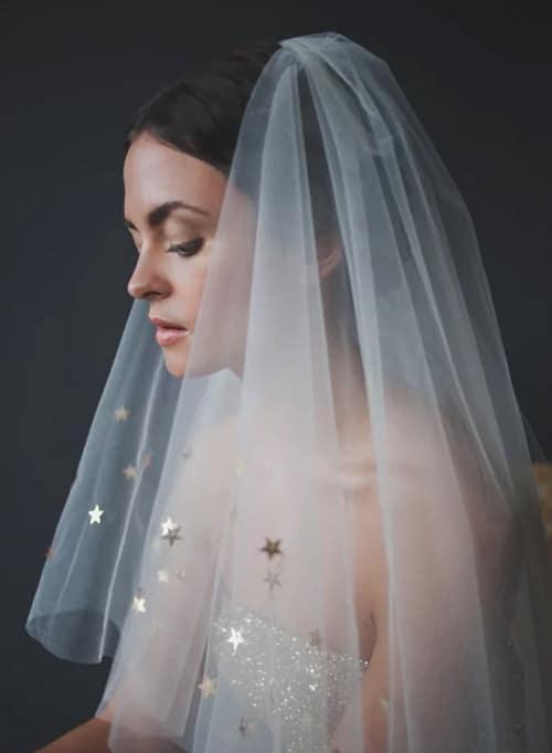 voile de mariage orginale etoile