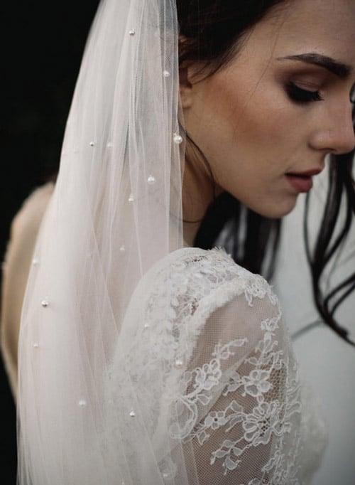 voile de mariee perles