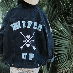 wifed denim jacket bride