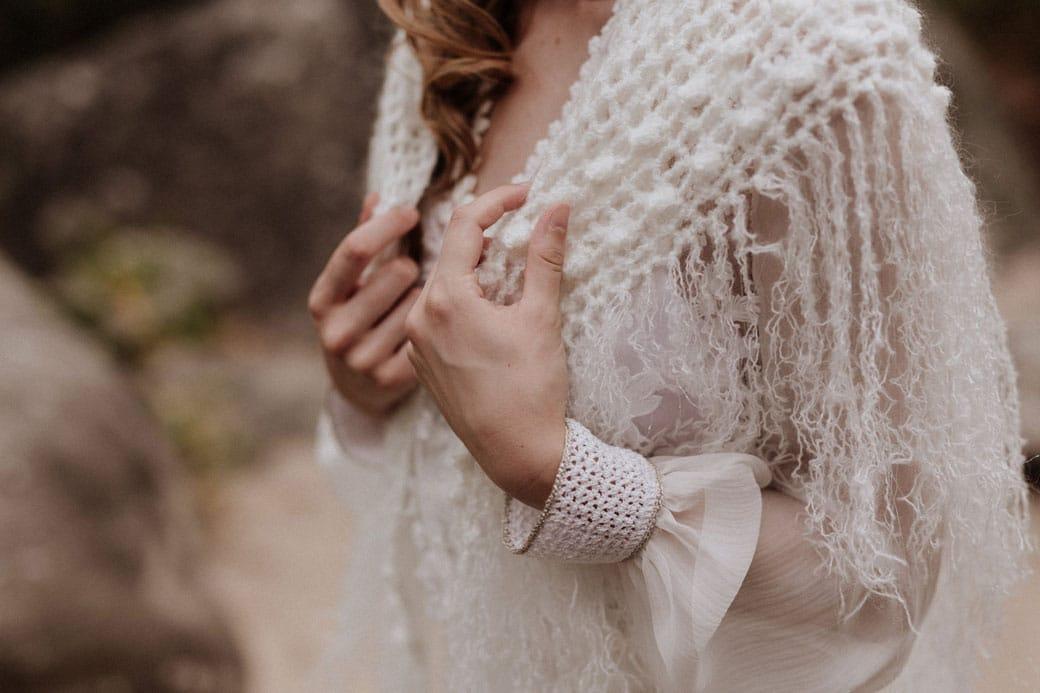 chale de mariee mariage folk boheme