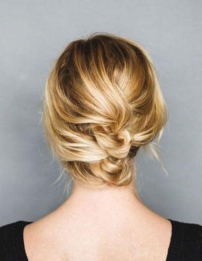 chignon mariage pour cheveux courts