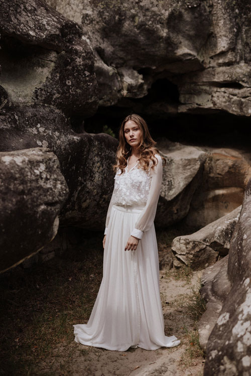 robe de mariee folk elodie courtat 2019