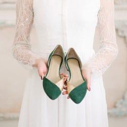 chaussure verte mariage