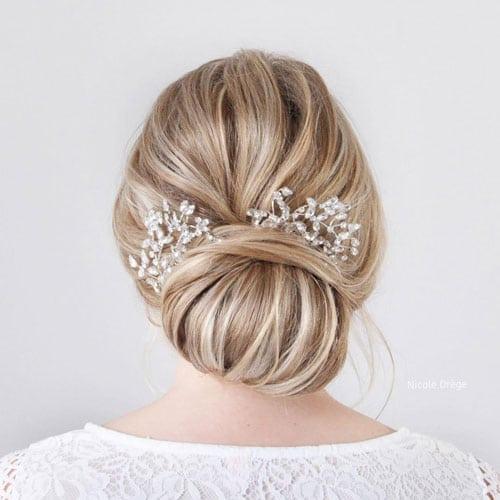 chignon de mariee avec peigne cheveux
