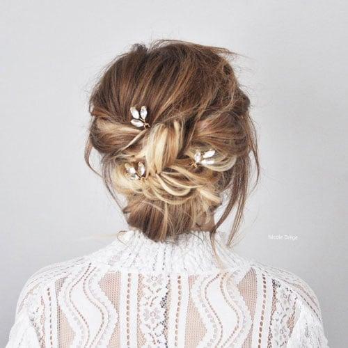 chignon de mariee avec pic cheveux