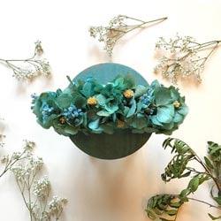 diademe mariee fleurs vertes
