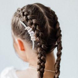 peigne cheveux strass et nacre