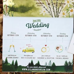 planning mariage illustre