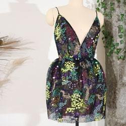 robe demoiselle honneur sequins