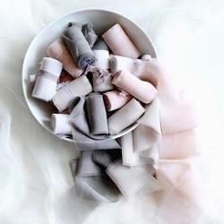 ruban de soie taupe