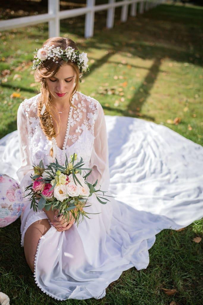inspiration mariage rose pale romantique 2019