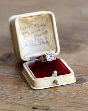 boite pour alliances vintage antique