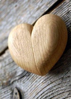 boite pour alliances coeur en bois