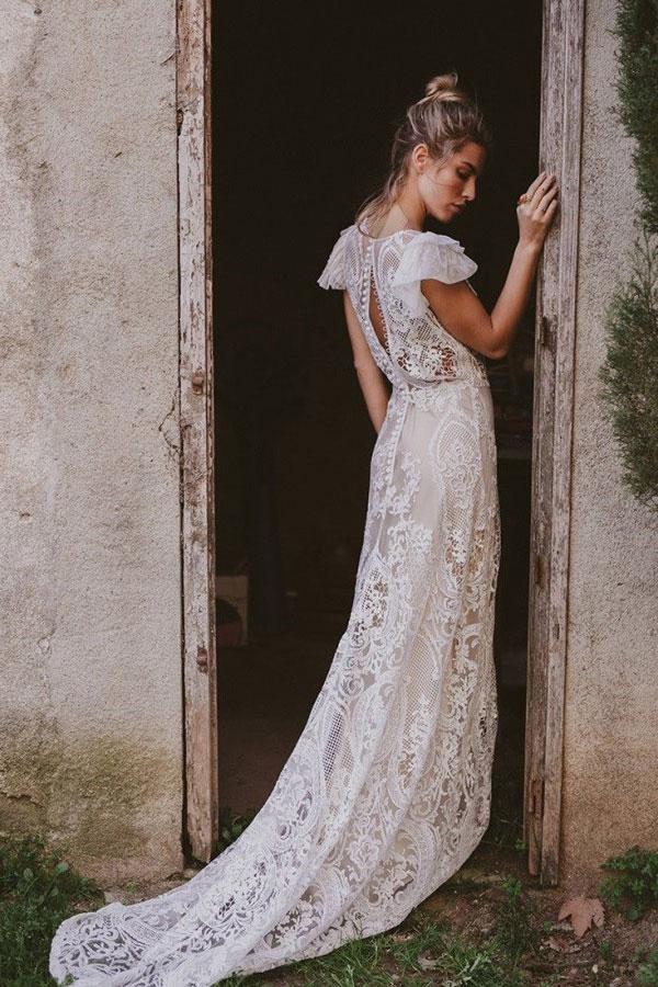 Blanche Show Room de la Mariée et immacle novia robe de mariee