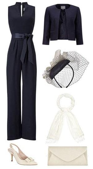 pantalon invitee de mariage marine