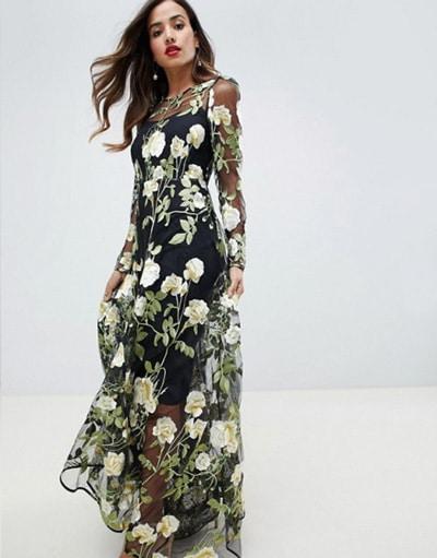 robe a fleur pour invitee de mariage