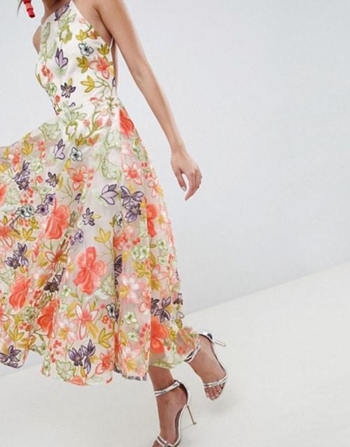 robe demoiselle honneur a fleurs